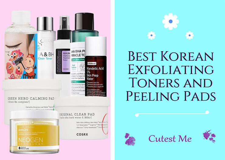 Best Korean exfoliating toners and peeling pads