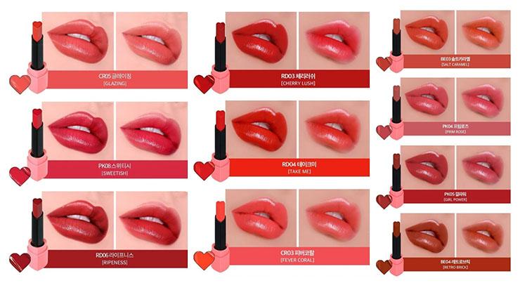 Holika Holika Heart Crush Lipstick Melting